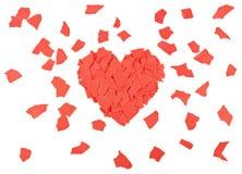 Heart of paper scraps Stock Images