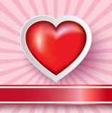 Heart Paper Sticker Royalty Free Stock Images