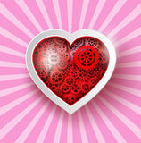 Heart Paper Sticker Royalty Free Stock Photo