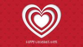 Heart Paper Sticker With Shadow Valentine`s day. vector illustra Stock Photography