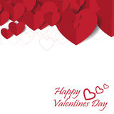 Heart Paper Sticker With Shadow Valentine's day vector illustrat Royalty Free Stock Photos