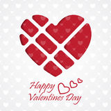 Heart Paper Sticker With Shadow Valentine's day vector illustrat Stock Photo