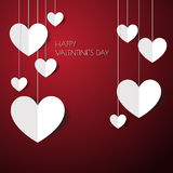 Heart Paper Sticker With Shadow Valentine's day vector illustrat Royalty Free Stock Photo