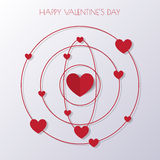 Heart Paper Sticker With Shadow Valentine's day vector illustrat Stock Photography
