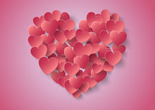 Heart Paper Sticker With Shadow Valentine's day. Royalty Free Stock Images