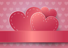 Heart Paper Sticker With Shadow Valentine's day. Heart Paper Sticker With Shadow Valentine's day vector illustration royalty free illustration