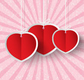 Heart Paper Sticker Royalty Free Stock Photos