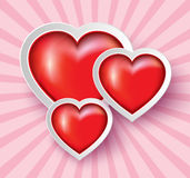 Heart Paper Sticker Stock Photo