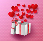 Heart Paper Sticker Stock Image