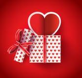 Heart Paper Sticker Stock Photo