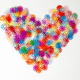 Heart of  paper  for Valentine's day Stock Image