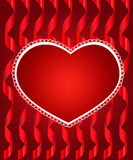 Heart from paper Valentines day card Royalty Free Stock Images