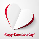 Heart from paper Valentines day card Royalty Free Stock Photos