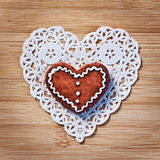 Heart paper on wood Royalty Free Stock Photo