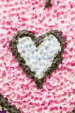 Heart paraffin background Stock Photography