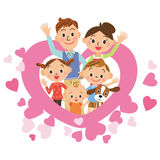 Heart and parent and child Royalty Free Stock Photography