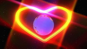 Heart particle and earth stock footage