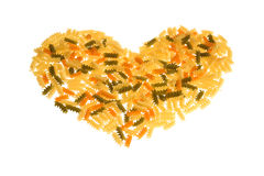 A heart of pasta Royalty Free Stock Images