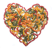 Heart of Pasta Royalty Free Stock Images