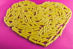 Heart pasta Royalty Free Stock Images