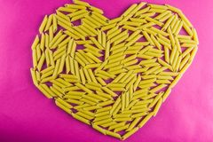 Heart pasta Stock Image