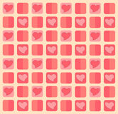 Heart pastel background Royalty Free Stock Photo