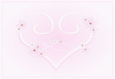 Heart in pastel pink Royalty Free Stock Photos