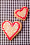 Heart pastry for valentines day Royalty Free Stock Image
