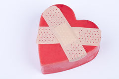 Heart with patch Stock Image