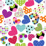 Heart patches Stock Image