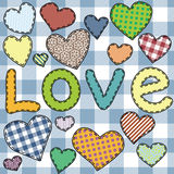 Heart patchwork 1 Royalty Free Stock Photography