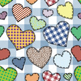 Heart patchwork pattern Royalty Free Stock Image