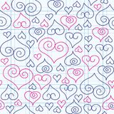 Heart pattern royalty free illustration