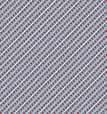 Heart Pattern. Cute red and blue Stripy hearts pattern Stock Photos