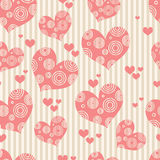 Heart pattern. Abstract seamless heart pattern background Stock Images