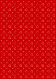 Heart Pattern Background Red Royalty Free Stock Images