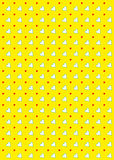 Heart Pattern Background Yellow. A bright and breezy pattern background with large and small hearts on a bright yellow ground. Great for St Valentine's Day and Stock Photo