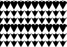 Heart pattern in black. A positive negative heart pattern in black and white color Stock Photo