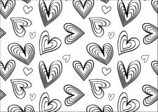 Heart pattern in black and white. A feminine heart pattern for background Royalty Free Stock Photography