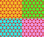 Heart pattern colored cheerful Stock Photo