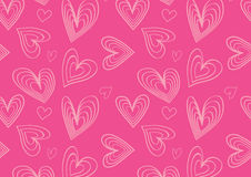 Heart pattern in cute pink. A feminine heart pattern for background Royalty Free Stock Photography