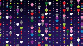 Heart pattern. Heart abstract pattern texture with violet background Stock Photo