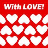 Heart pattern, horizontal with text. Royalty Free Stock Photography