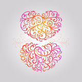 Heart pattern. Illustration of two heart pattern Royalty Free Stock Photo