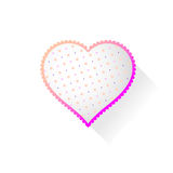 Heart with pattern Royalty Free Stock Photos