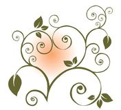 Heart of pattern with leaves Royalty Free Stock Image