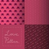 Heart pattern. Love Hearts vector patterns illustration Stock Photo