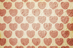 Heart pattern paper Royalty Free Stock Photos