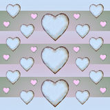 Heart Pattern in Pastel Tones Royalty Free Stock Photography