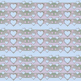 Heart Pattern in Pastel Tones Stock Images